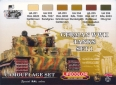Kit aerografo di colori camouflage LifeColor CS01 GERMAN WWII TANKS SET1