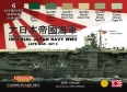 Kit aerografo di colori camouflage LifeColor CS37 IMPERIAL JAPAN NAVY WWII LATE WAR - SET 2