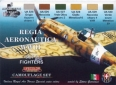 Kit aerografo di colori camouflage LifeColor CS19 REGIA AERONAUTICA WWII SET1 FIGHTERS