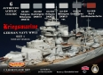 Kit aerografo di colori camouflage LifeColor CS09 GERMAN NAVY WWII SET1 Kriegsmarine