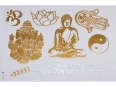Gold Silver | Jewelry Flash Tattoo stickers W-112, 21x15cm