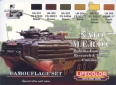Kit aerografo di colori camouflage LifeColor CS02 NATO M.E.R.D.C Mobility Equipment Research and Design