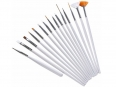 Set of 15 bodypainting, nail, decoration mini brushes (15x pennelli)